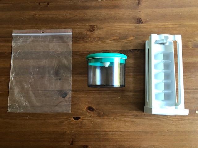 plastic containers for freezing almond milk